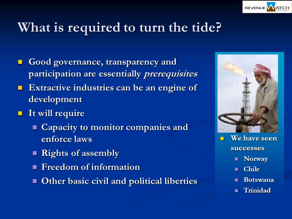 What is required to turn the tide