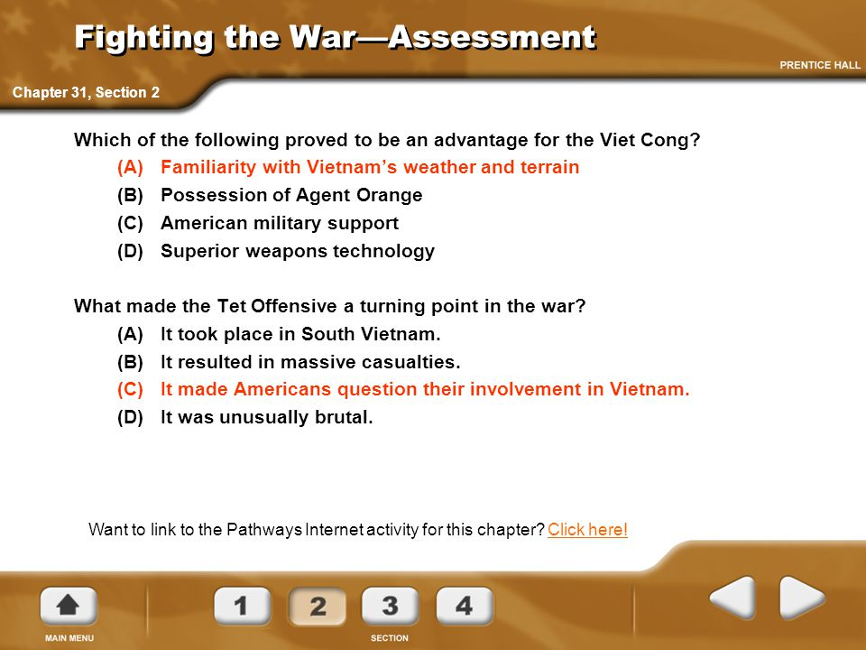 Fighting the War—Assessment