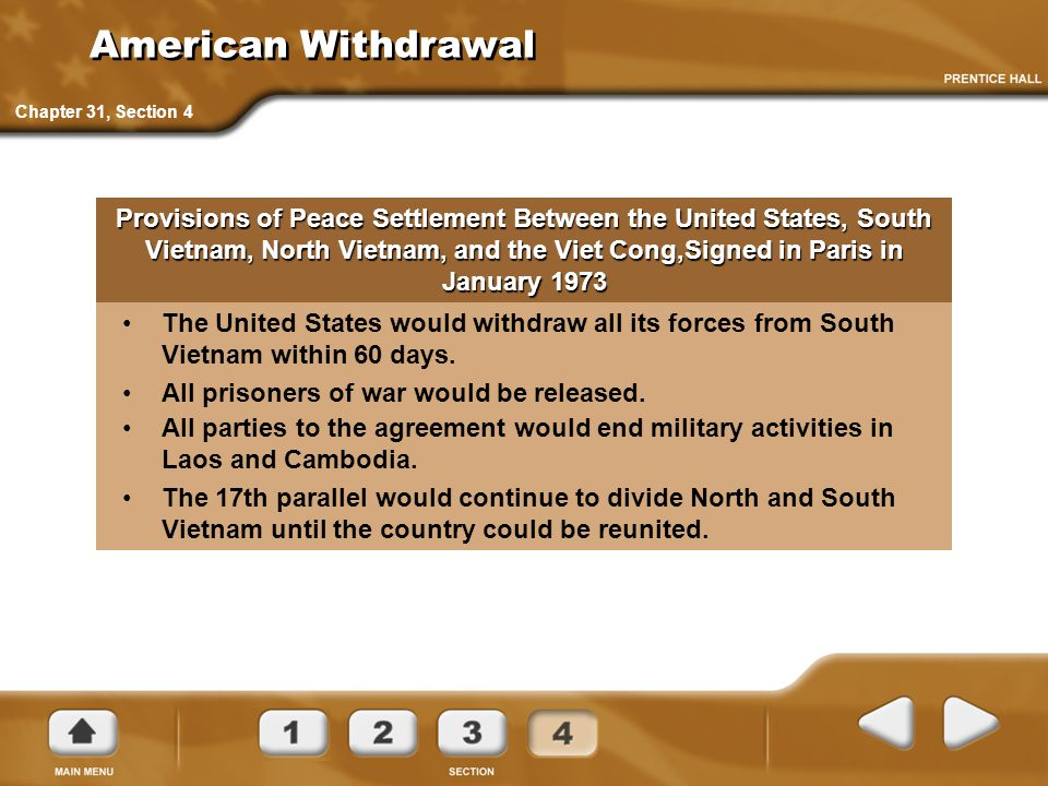 American Withdrawal Chapter 31, Section 4.