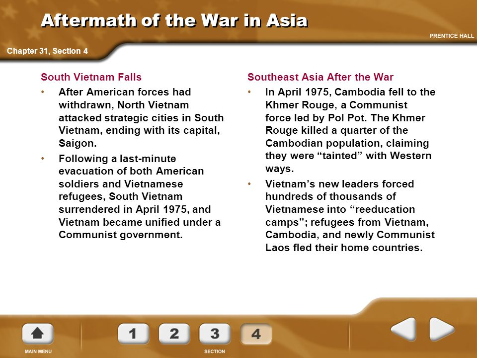 Aftermath of the War in Asia