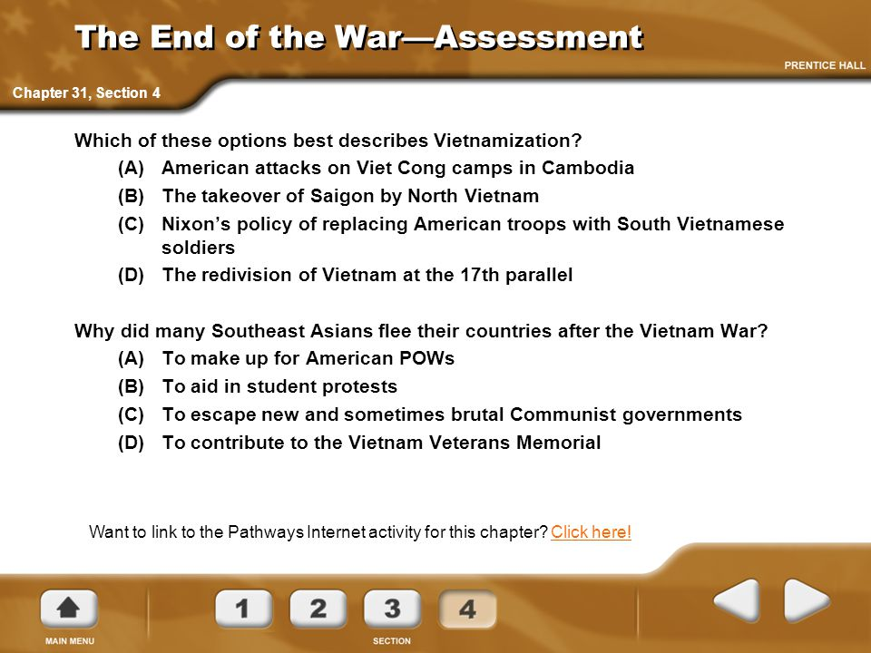 The End of the War—Assessment