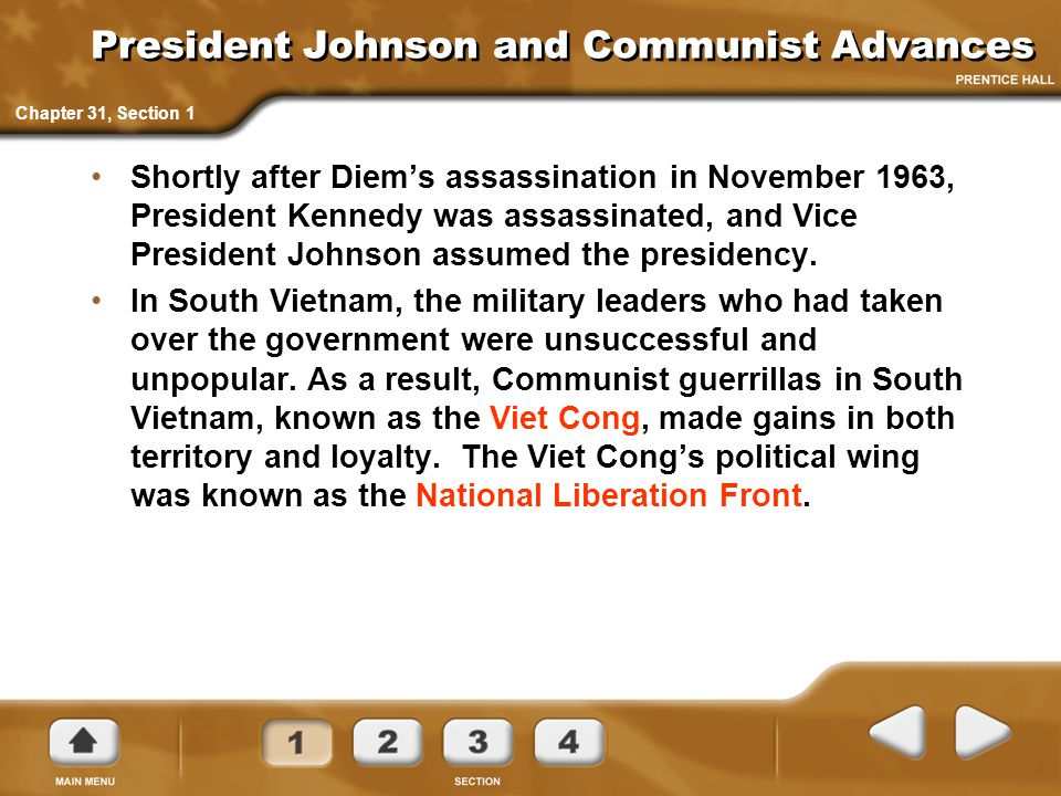 President Johnson and Communist Advances