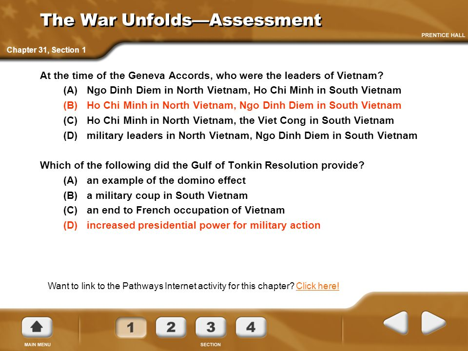 The War Unfolds—Assessment