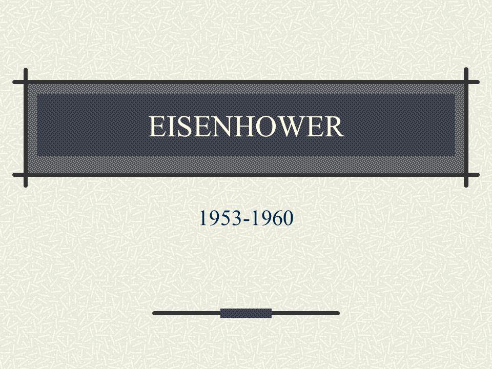 EISENHOWER 1953-1960