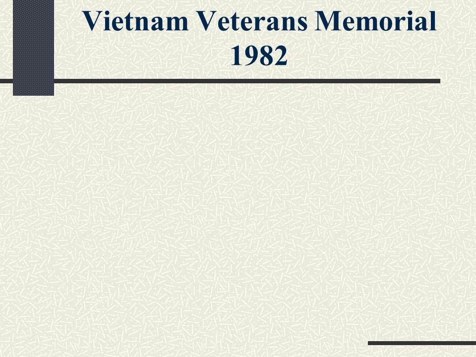 Vietnam Veterans Memorial 1982