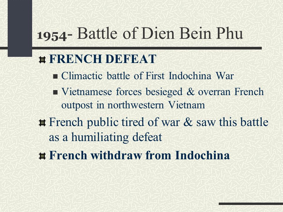 1954- Battle of Dien Bein Phu