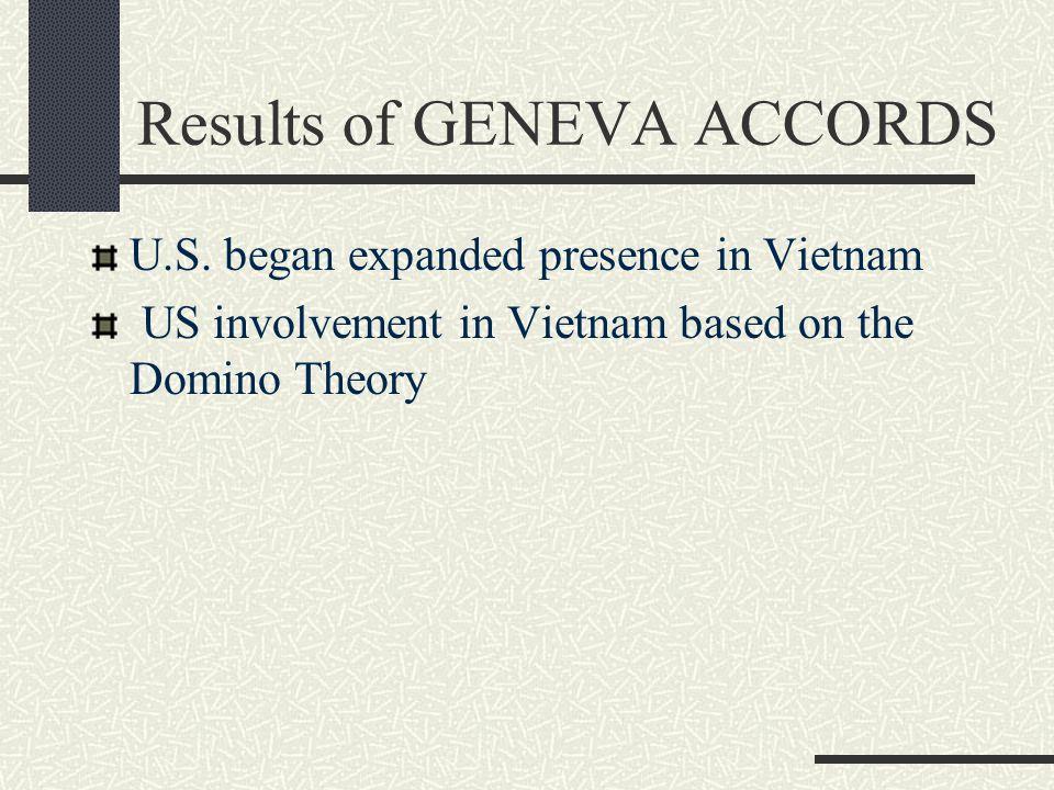 Results of GENEVA ACCORDS