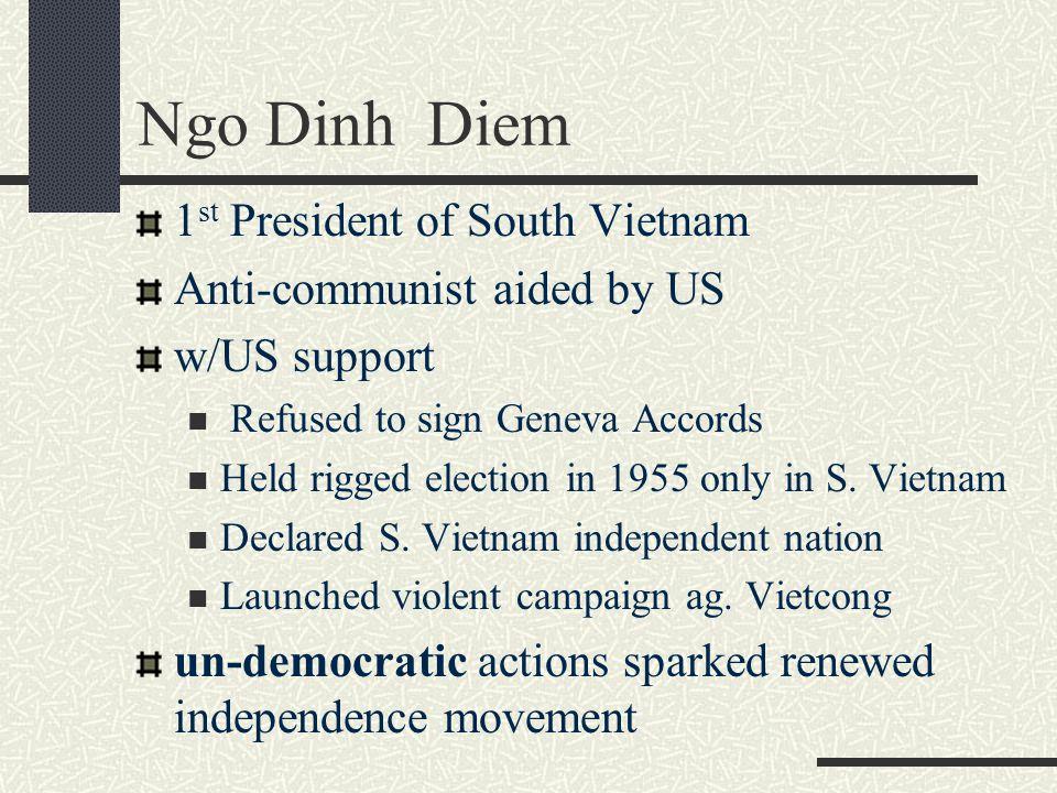 Ngo Dinh Diem 1st President of South Vietnam