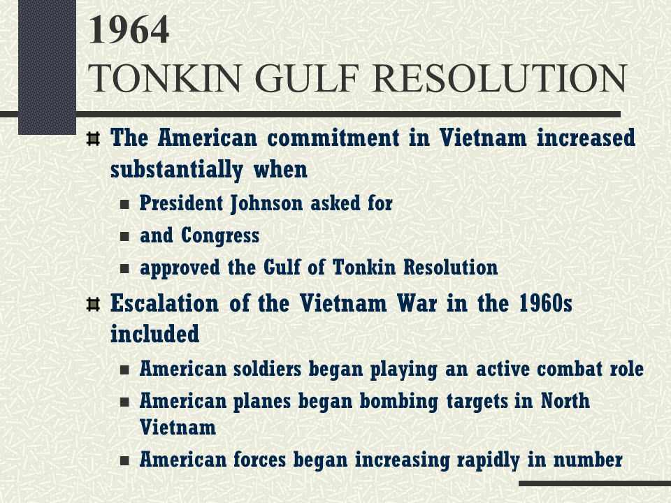 1964 TONKIN GULF RESOLUTION
