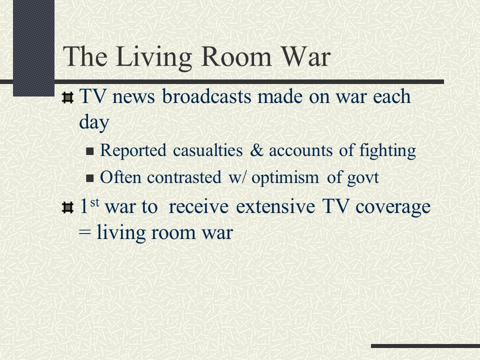 The Living Room War TV news broadcasts made on war each day