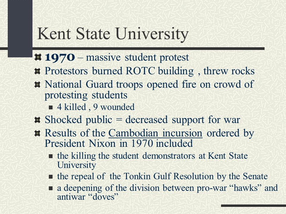 Kent State University 1970 – massive student protest