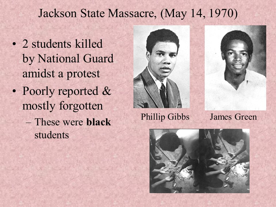 Jackson State Massacre, (May 14, 1970)