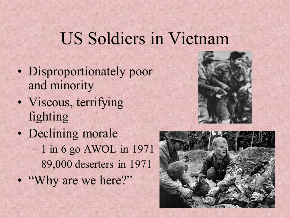 US Soldiers in Vietnam Disproportionately poor and minority