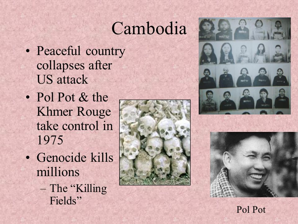 Cambodia Peaceful country collapses after US attack