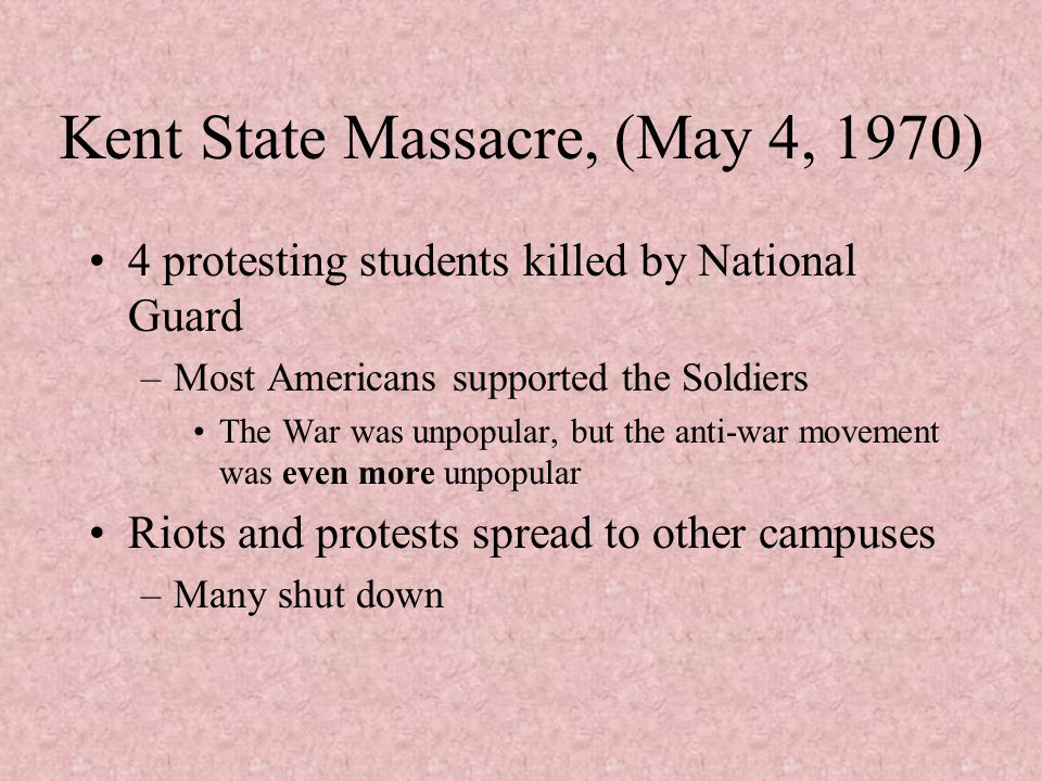 Kent State Massacre, (May 4, 1970)