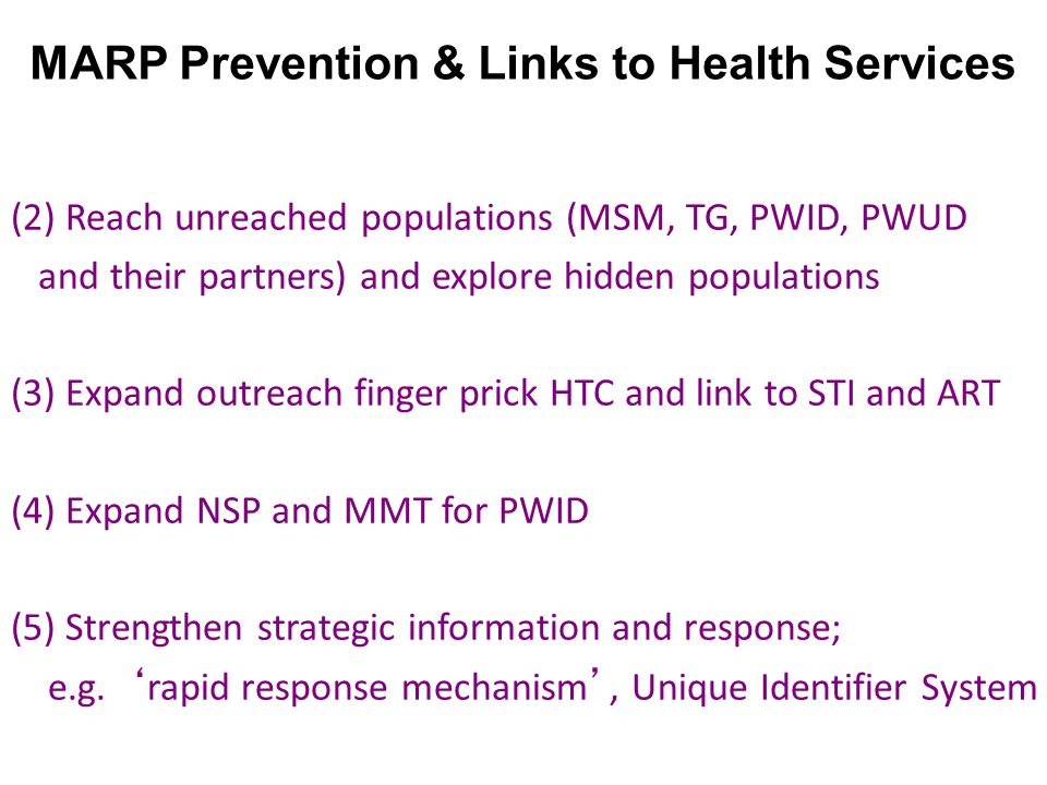 MARP Prevention & Links to Health Services