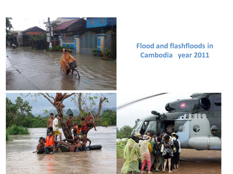Flood and flashfloods in Cambodia year 2011