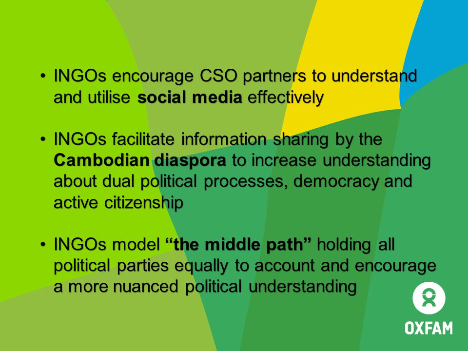 INGOs encourage CSO partners to understand and utilise social media effectively