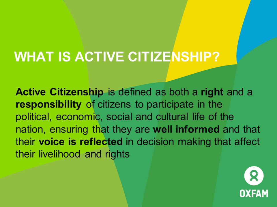 WHAT IS ACTIVE CITIZENSHIP