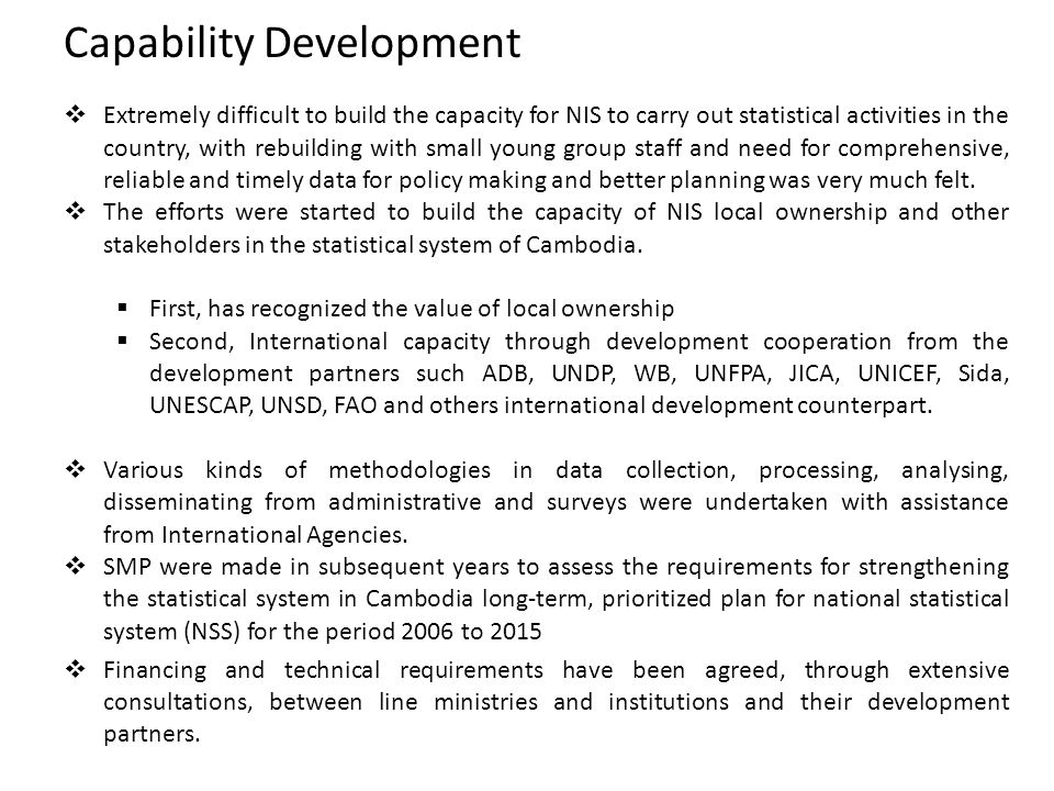 Capability Development