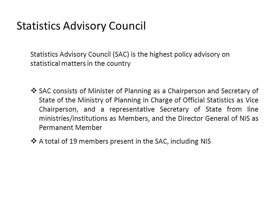 Statistics Advisory Council