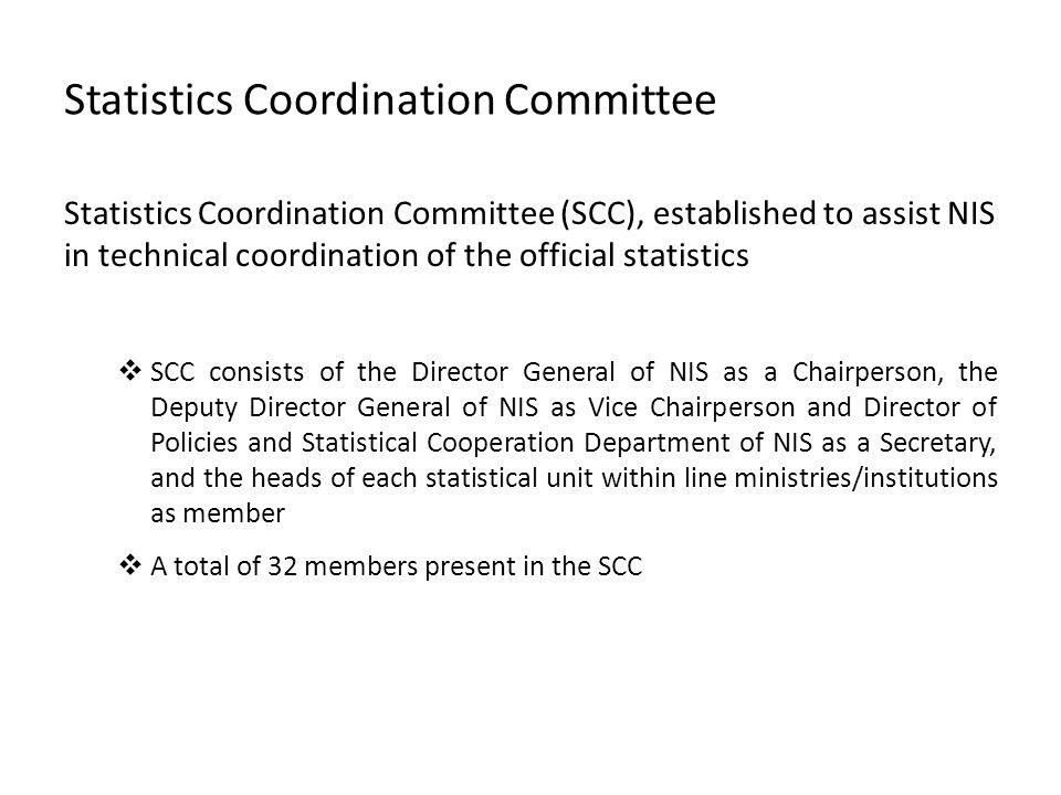 Statistics Coordination Committee