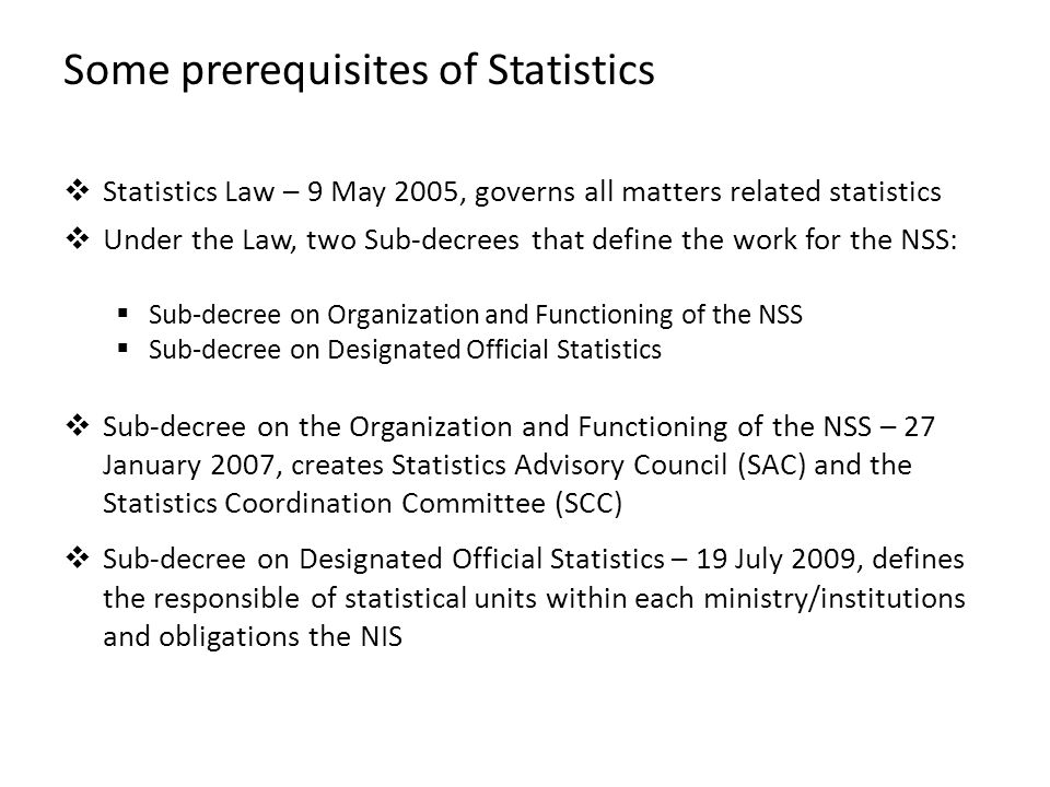 Some prerequisites of Statistics