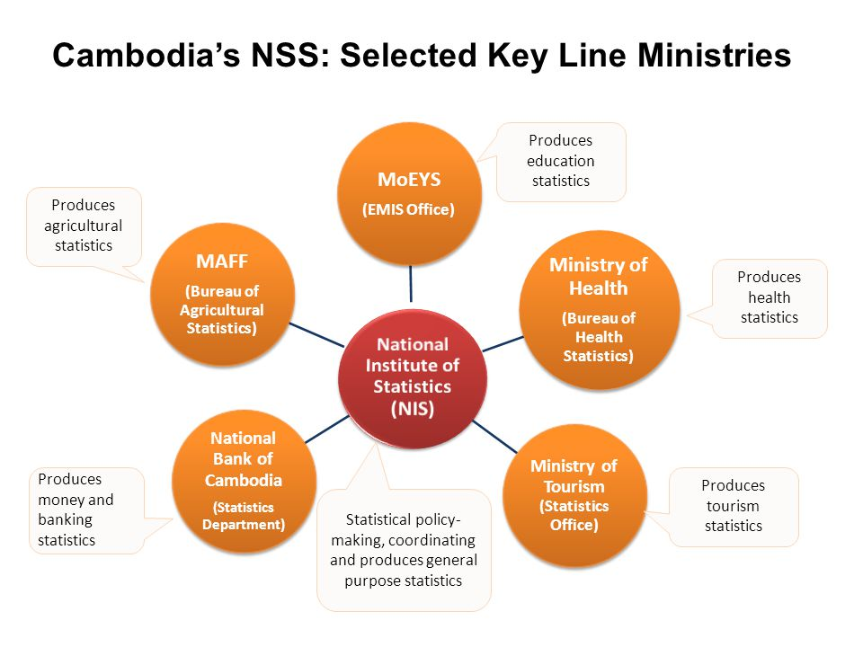 Cambodia's NSS: Selected Key Line Ministries