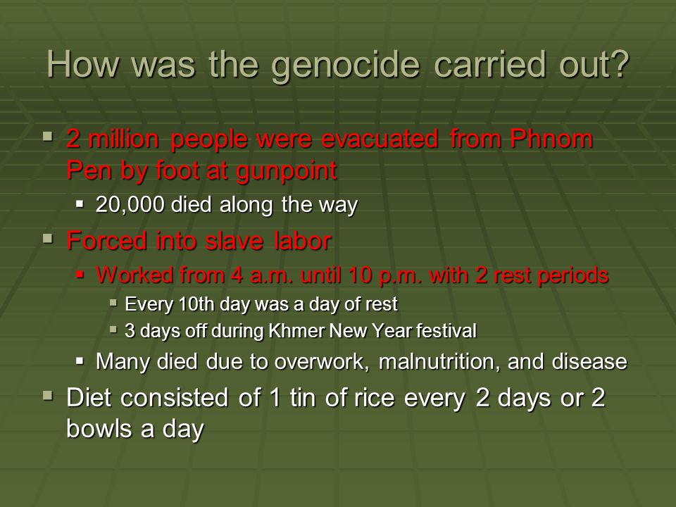 How was the genocide carried out