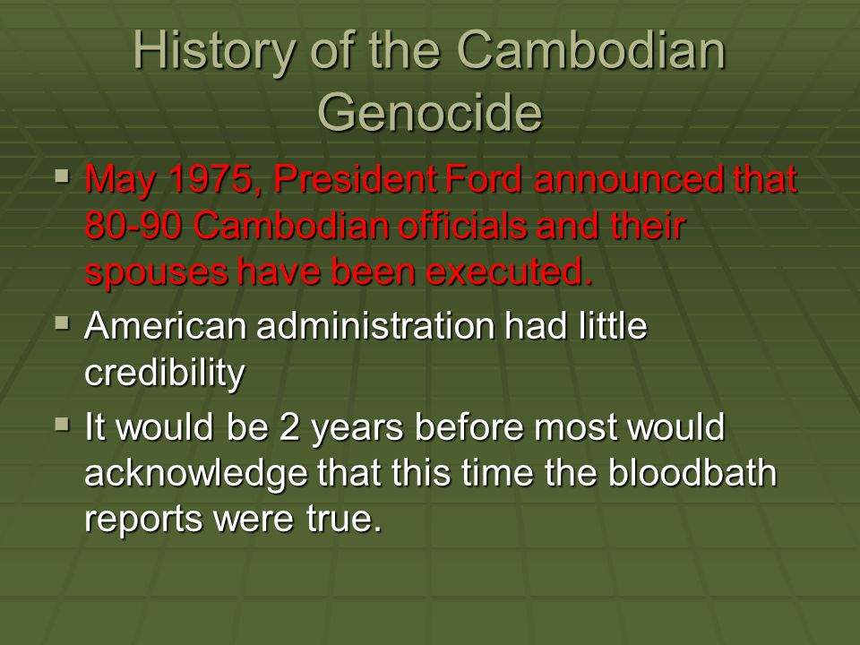 History of the Cambodian Genocide