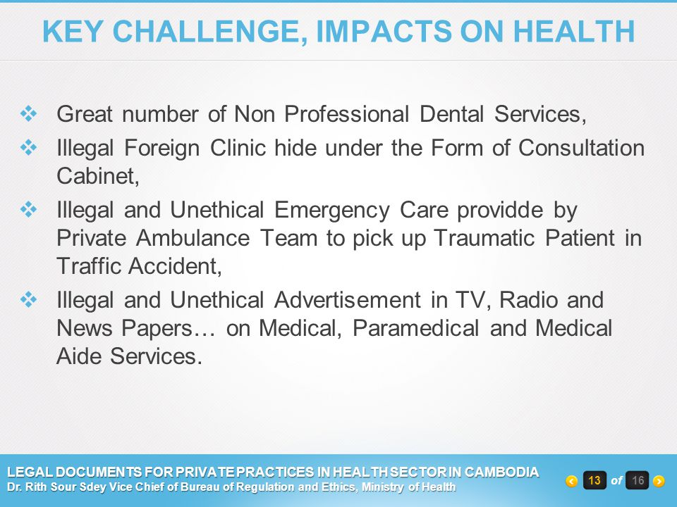 KEY CHALLENGE, IMPACTS ON HEALTH