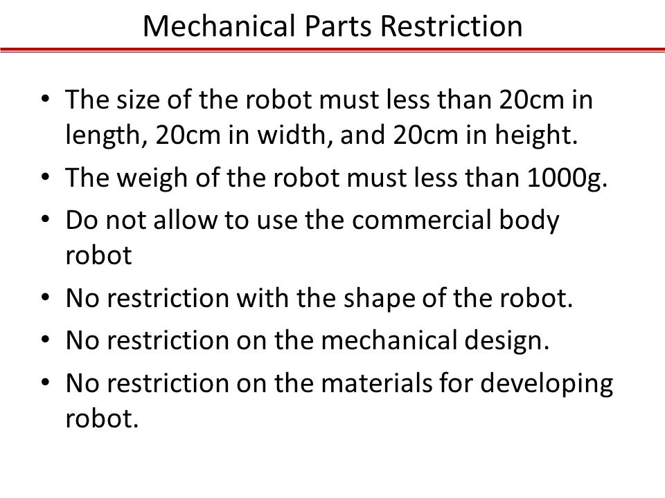 Mechanical Parts Restriction