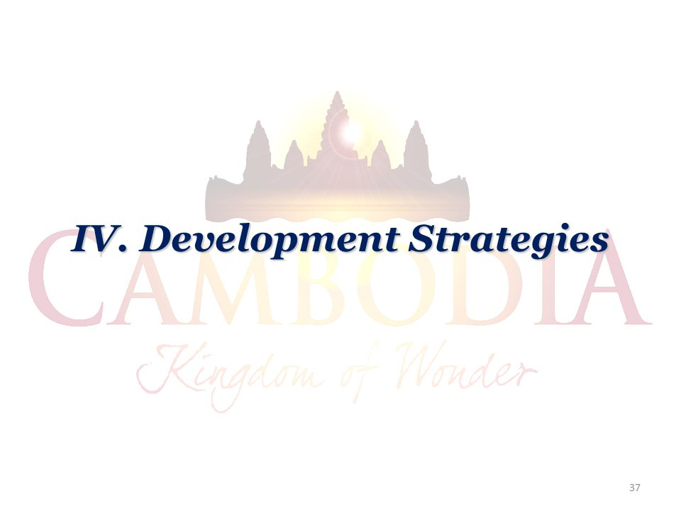 IV. Development Strategies