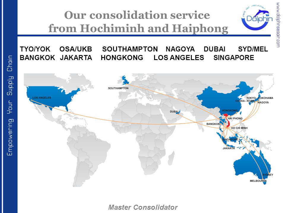 Our consolidation service from Hochiminh and Haiphong