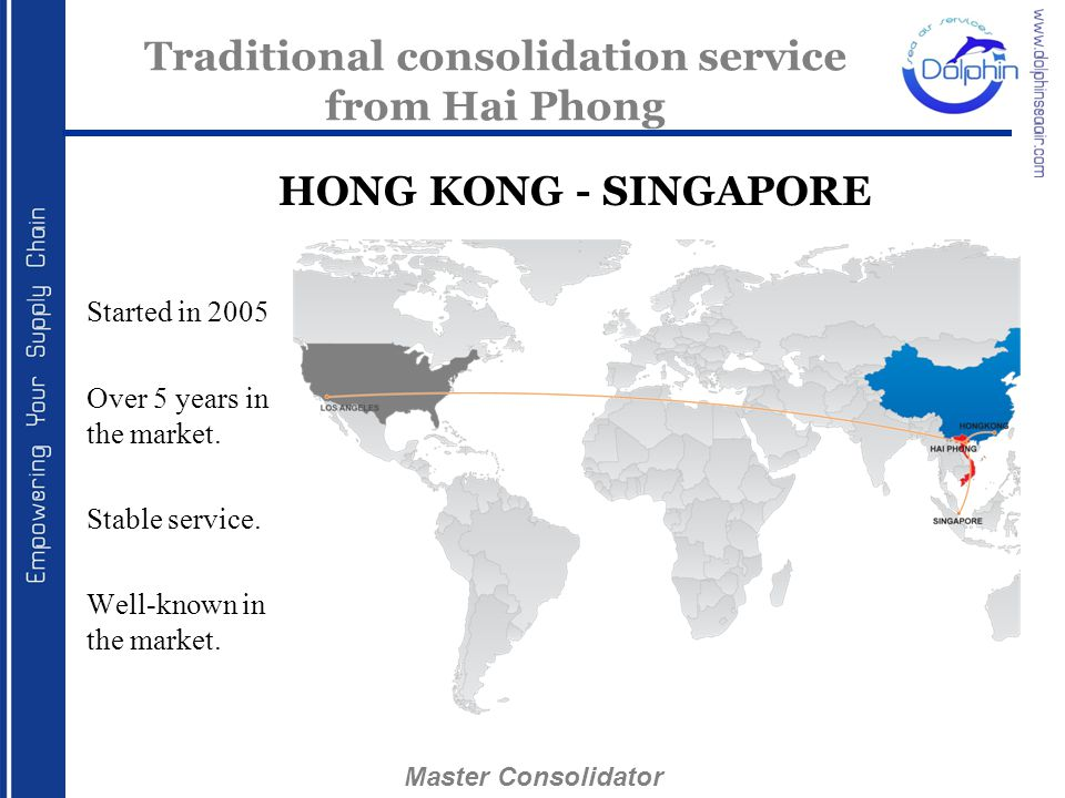 Traditional consolidation service from Hai Phong