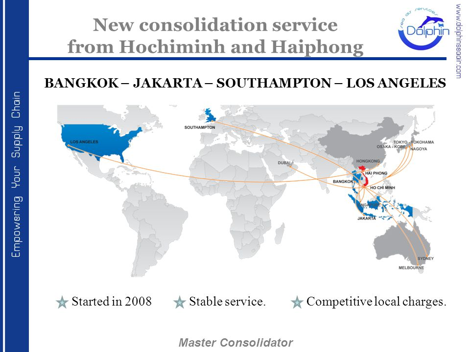 New consolidation service from Hochiminh and Haiphong