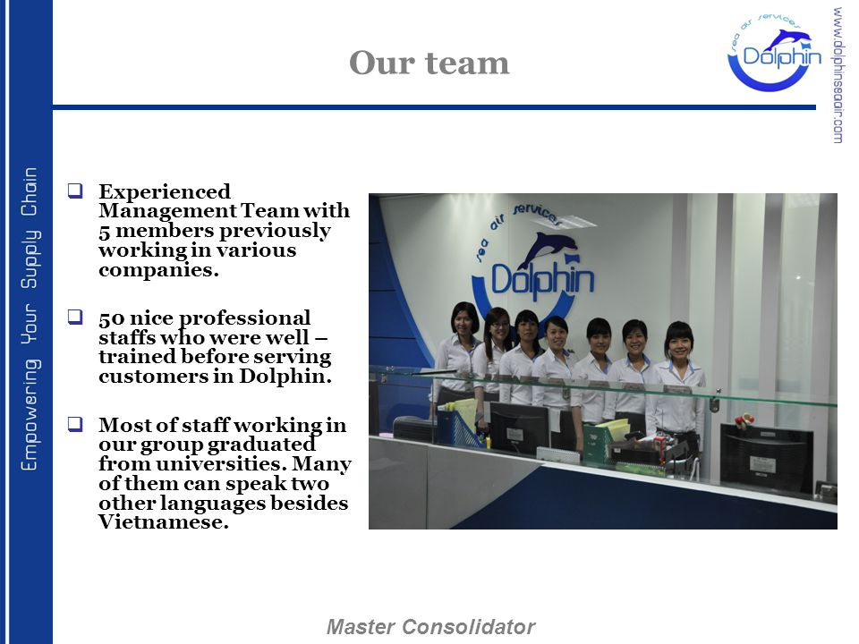 Our team Master Consolidator