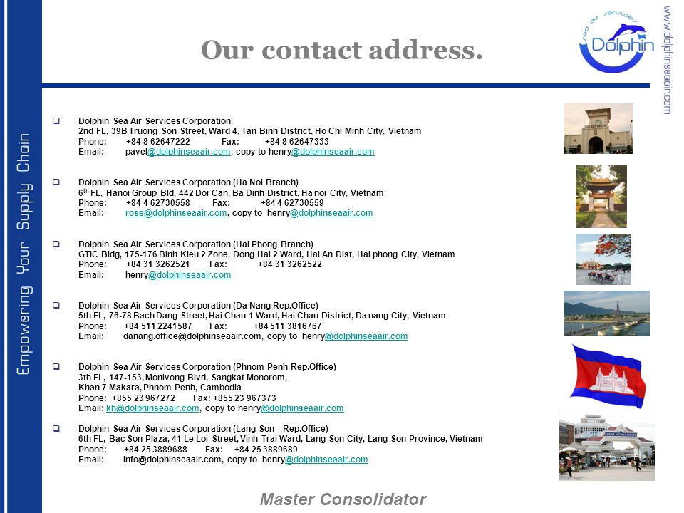 Our contact address. Master Consolidator