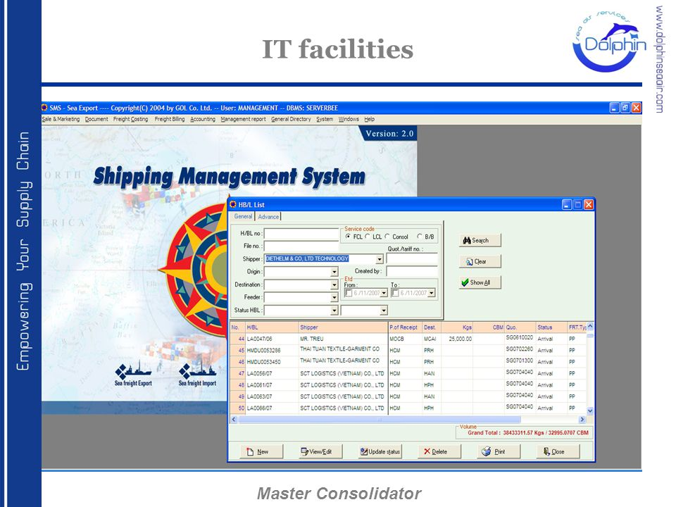IT facilities Master Consolidator