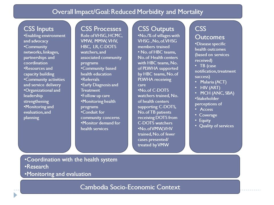 Overall Impact/Goal: Reduced Morbidity and Mortality