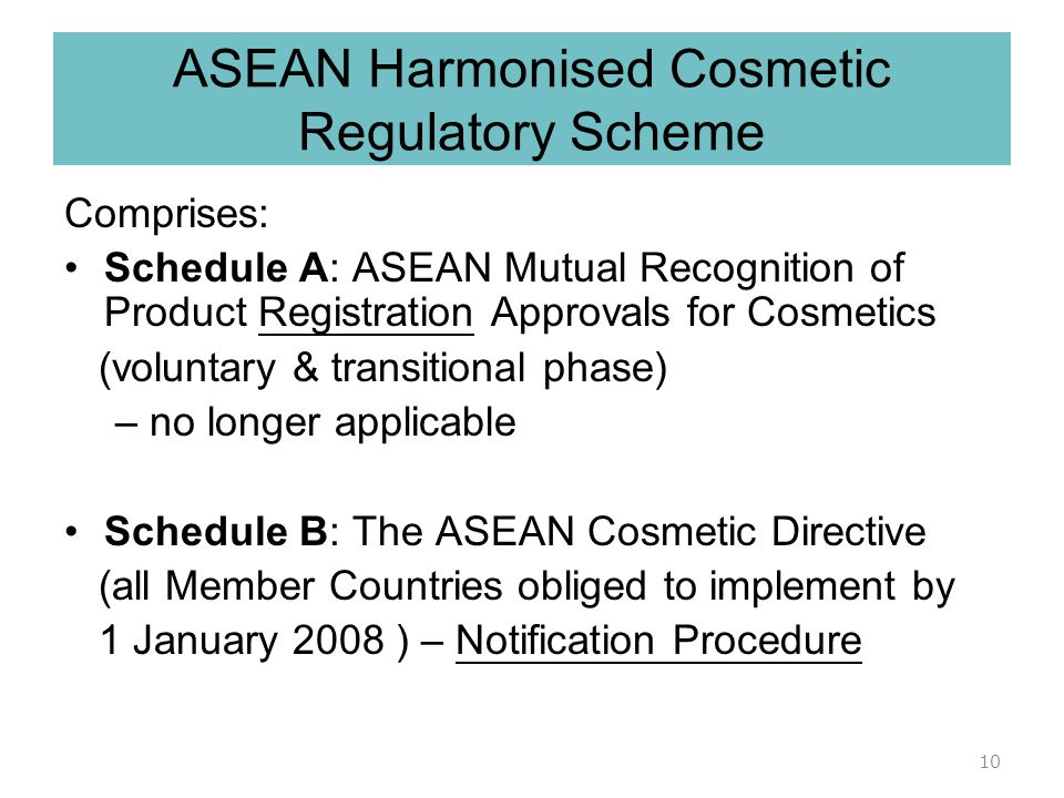 ASEAN Harmonised Cosmetic Regulatory Scheme