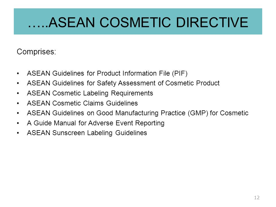 Cosmetics products enforcement regulations 2013