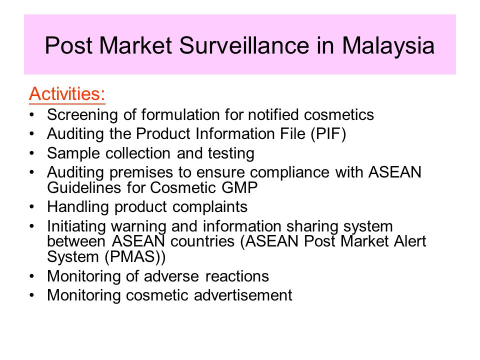 Post Market Surveillance in Malaysia