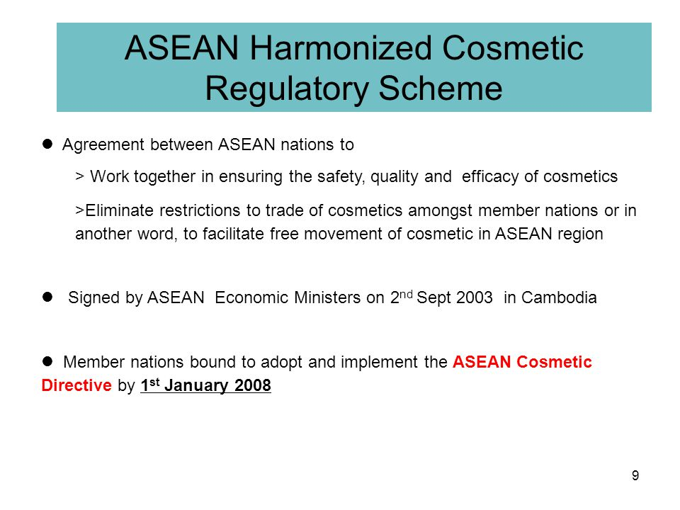 ASEAN Harmonized Cosmetic Regulatory Scheme