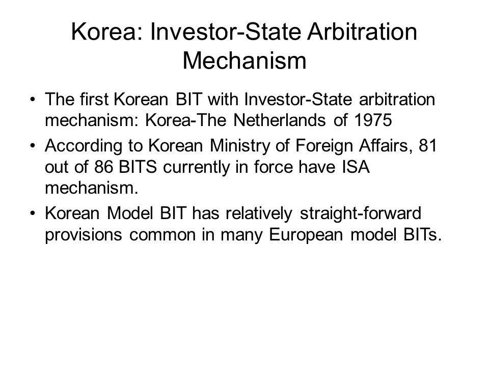 Korea: Investor-State Arbitration Mechanism