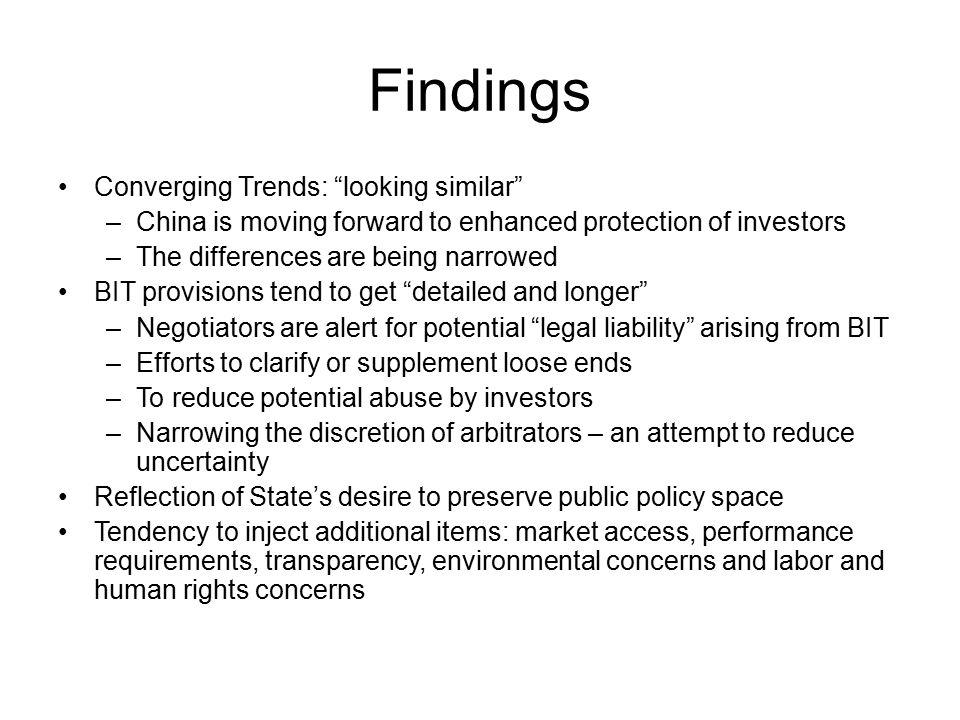 Findings Converging Trends: looking similar