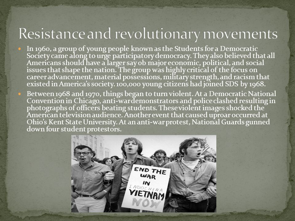 Resistance and revolutionary movements