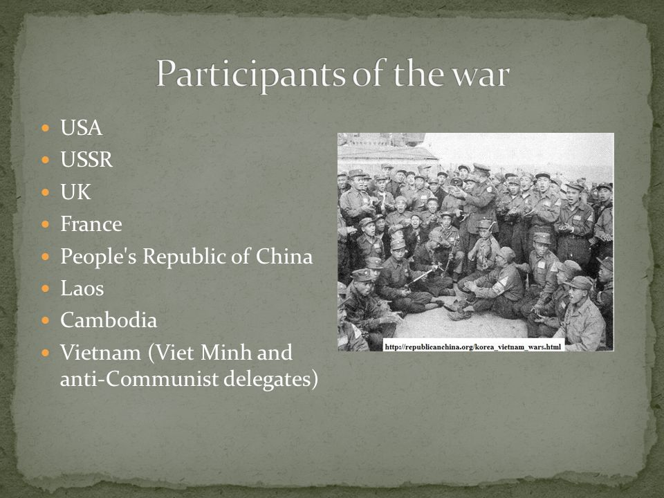Participants of the war