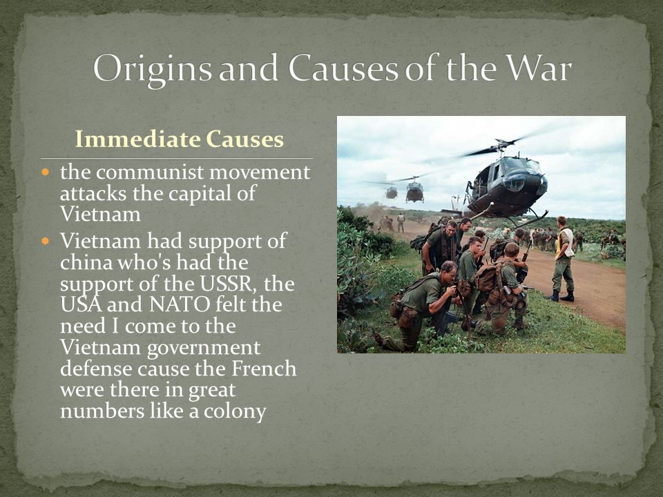 Origins and Causes of the War