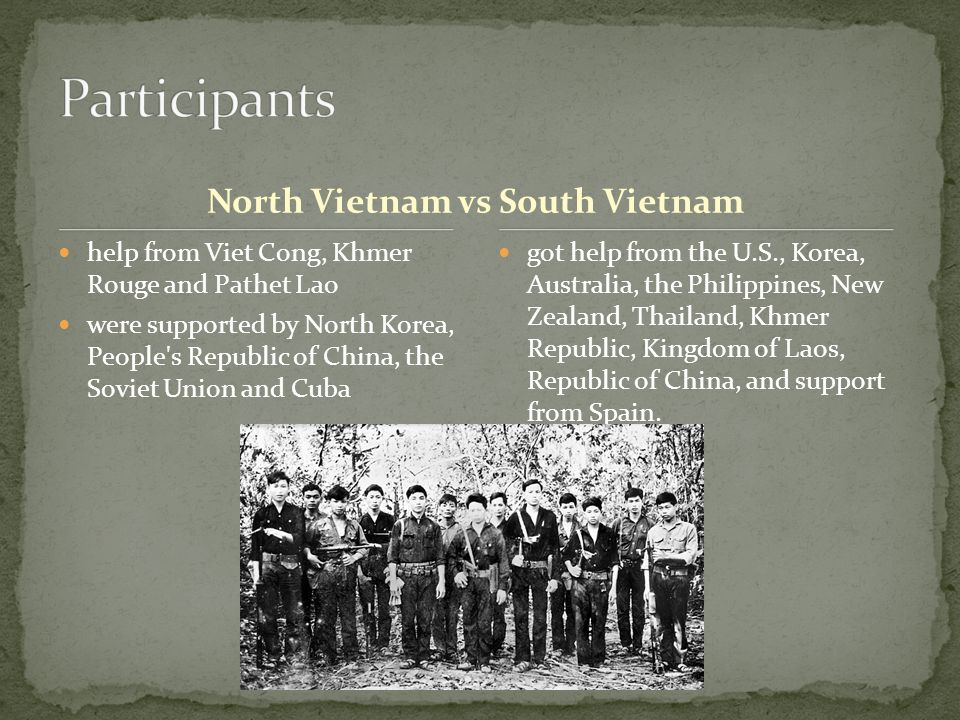 North Vietnam vs South Vietnam